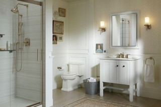 Metal Finishes in the Bathroom